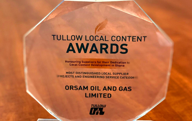 Tullow Ghana celebrates Orsam Oil & Gas for Supporting Local Content Development